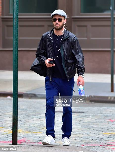 Justin Timberlake is seen in Tribeca on July 27 2017 in New York City