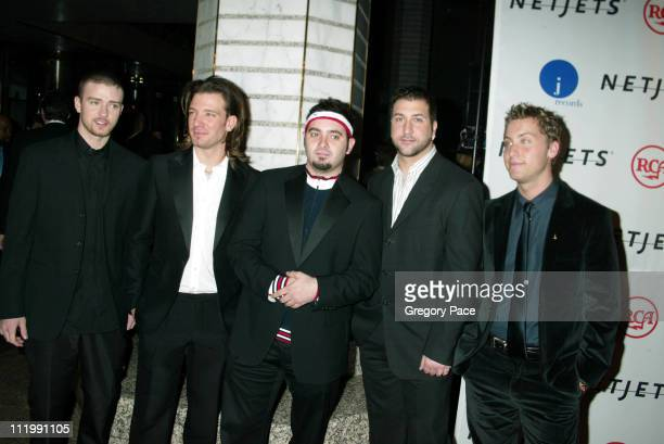Justin Timberlake JC Chasez Chris Kirkpatrick Joey Fatone and Lance Bass of *NSYNC