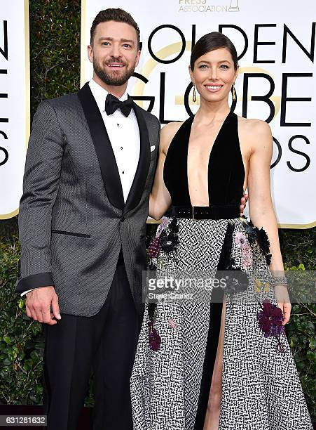 Justin Timberlake Jessica Biel arrives at the 74th Annual Golden Globe Awards at The Beverly Hilton Hotel on January 8 2017 in Beverly Hills...