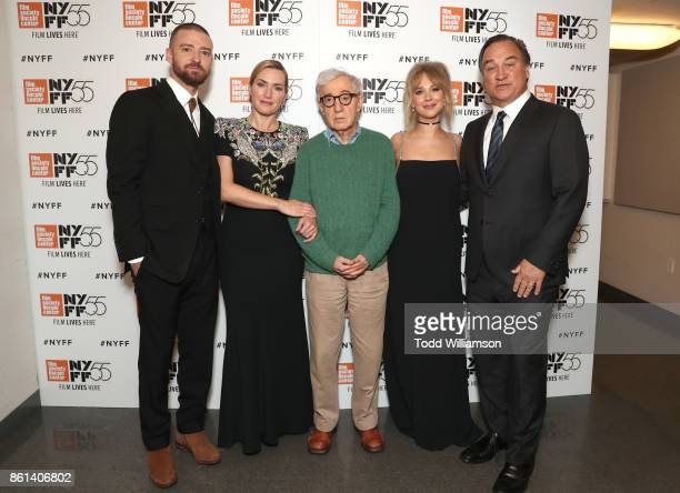 Justin Timberlake Kate Winslet Director Director Woody Allen Juno Temple and Jim Belushi attend the NYFF premiere of 'Wonder Wheel' at Alice Tully...