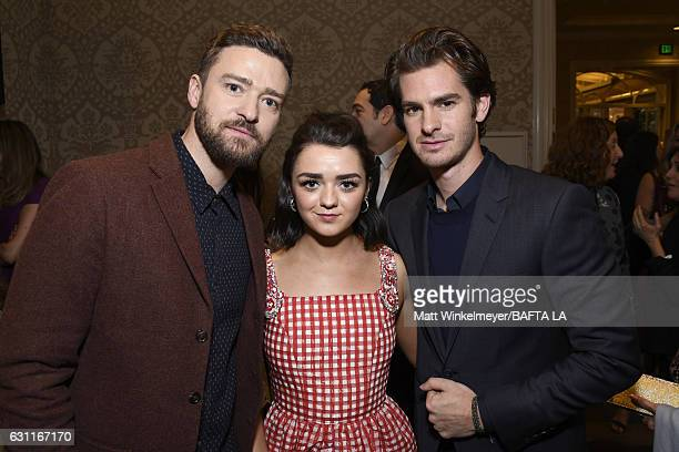 Justin Timberlake Maisie Williams and Andrew Garfield attend The BAFTA Tea Party at Four Seasons Hotel Los Angeles at Beverly Hills on January 7 2017...
