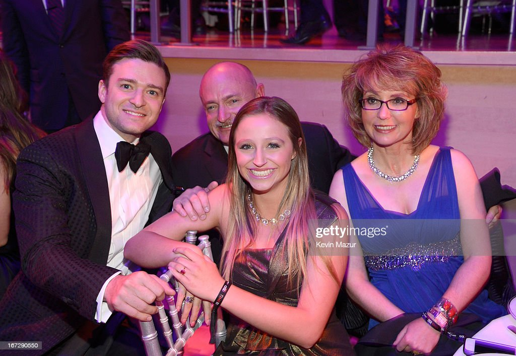 Justin Timberlake, Mark Kelly and Gabrielle Giffords attend TIME 100 Gala, TIME'S 100 Most Influential People In The World at Jazz at Lincoln Center on April 23, 2013 in New York City.