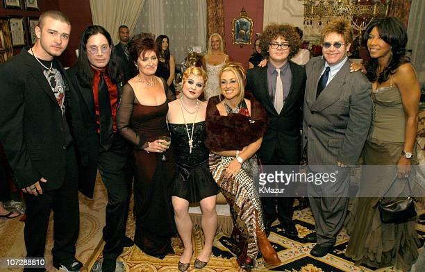 Justin Timberlake Ozzy Osbourne Sharon Osbourne Kelly Osbourne Anastacia Jack Osbourne Sir Elton John and Natalie Cole