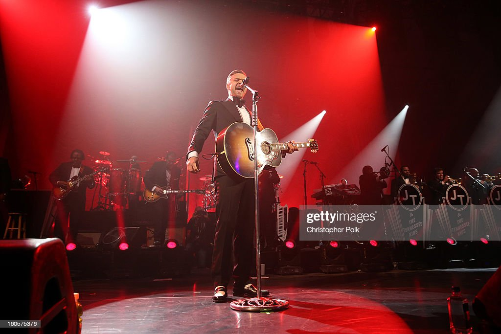 <a gi-track='captionPersonalityLinkClicked' href=/galleries/search?phrase=Justin+Timberlake&family=editorial&specificpeople=157482 ng-click='$event.stopPropagation()'>Justin Timberlake</a> performs at DIRECTV Super Saturday Night Featuring Special Guest <a gi-track='captionPersonalityLinkClicked' href=/galleries/search?phrase=Justin+Timberlake&family=editorial&specificpeople=157482 ng-click='$event.stopPropagation()'>Justin Timberlake</a> & Co-Hosted By Mark Cuban's AXS TV on February 2, 2013 in New Orleans, Louisiana.