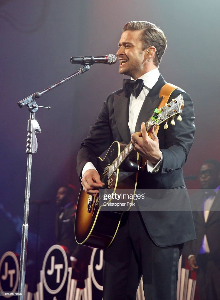 Justin Timberlake performs at DIRECTV Super Saturday Night Featuring Special Guest Justin Timberlake & Co-Hosted By Mark Cuban's AXS TV on February 2, 2013 in New Orleans, Louisiana.