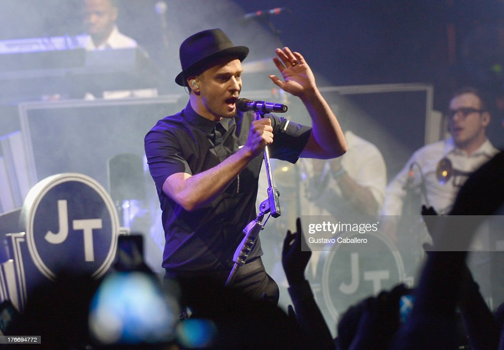 <a gi-track='captionPersonalityLinkClicked' href=/galleries/search?phrase=Justin+Timberlake&family=editorial&specificpeople=157482 ng-click='$event.stopPropagation()'>Justin Timberlake</a> performs during MasterCard and <a gi-track='captionPersonalityLinkClicked' href=/galleries/search?phrase=Justin+Timberlake&family=editorial&specificpeople=157482 ng-click='$event.stopPropagation()'>Justin Timberlake</a> Intimate Priceless Miami Performance at Fillmore Miami Beach on August 16, 2013 in Miami Beach, Florida.