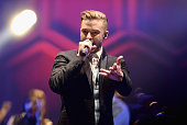 Justin Timberlake performs on stage at the 02 Arena on June 10 2014 in London England