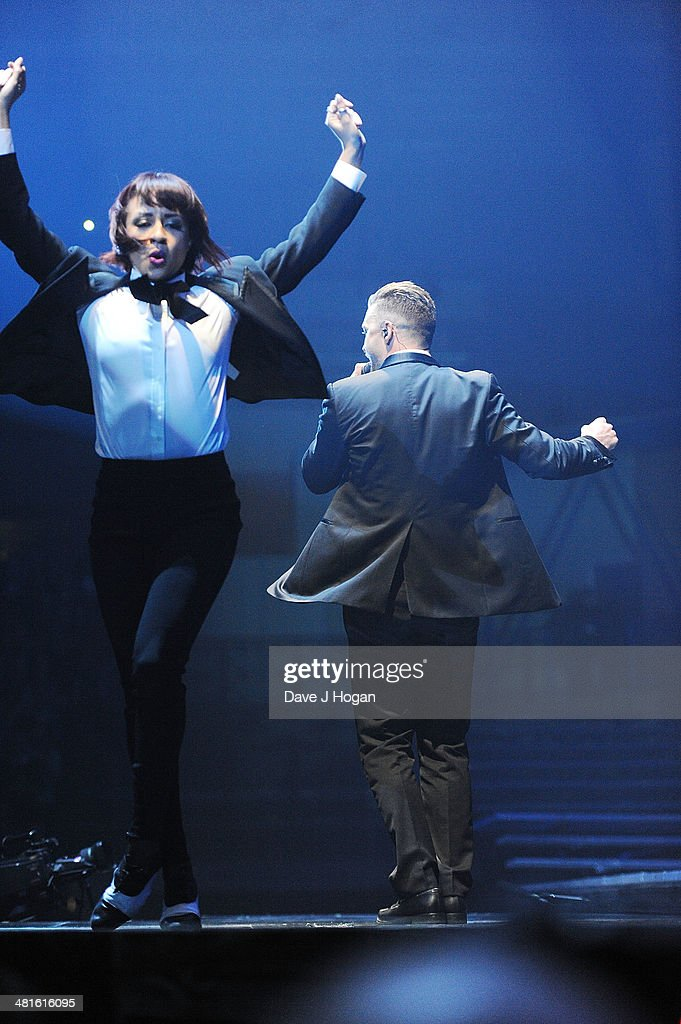 Justin Timberlake performs on the opening night of his UK tour at Motorpoint Arena on March 30, 2014 in Sheffield, England.