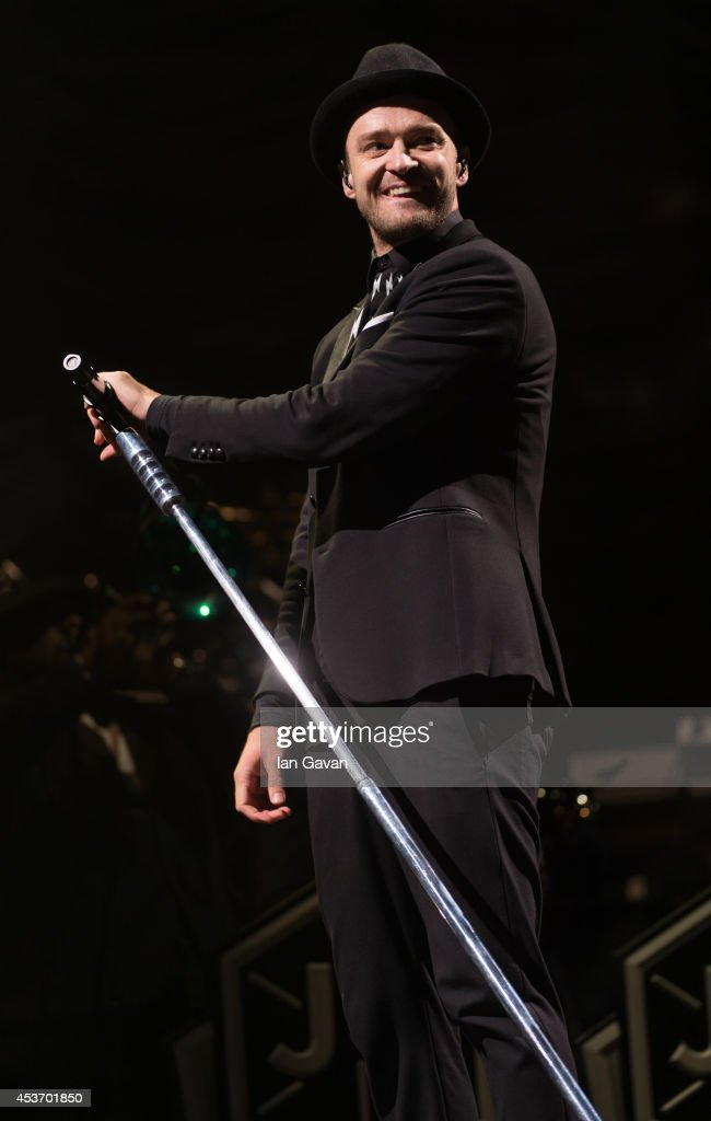 <a gi-track='captionPersonalityLinkClicked' href=/galleries/search?phrase=Justin+Timberlake&family=editorial&specificpeople=157482 ng-click='$event.stopPropagation()'>Justin Timberlake</a> performs on the Virgin Media Stage during Day 1 of the V Festival at Hylands Park on August 16, 2014 in Chelmsford, England.