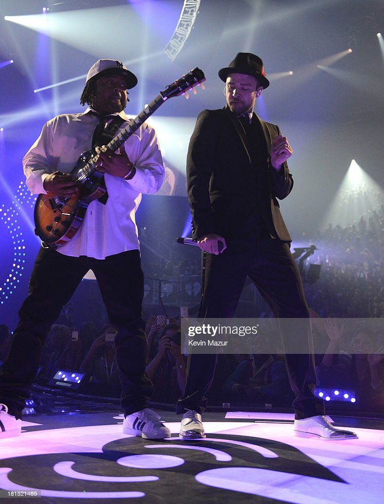 Justin Timberlake performs onstage during the iHeartRadio Music Festival at the MGM Grand Garden Arena on September 21, 2013 in Las Vegas, Nevada.
