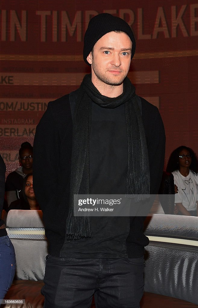 Justin Timberlake visits BET's '106 & Park' at BET Studios on March 14, 2013 in New York City.