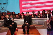 Justin Timberlake visits BET's '106 Park' with hosts Bow Wow and Paigion at BET Studios on March 14 2013 in New York City