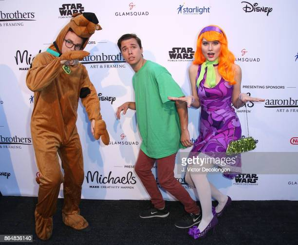 Justin Tinucci Colton Shires and Serena Laurel at the Dream Halloween 2017 Costume Party Benefitting Starlight Children's Foundation presented by...