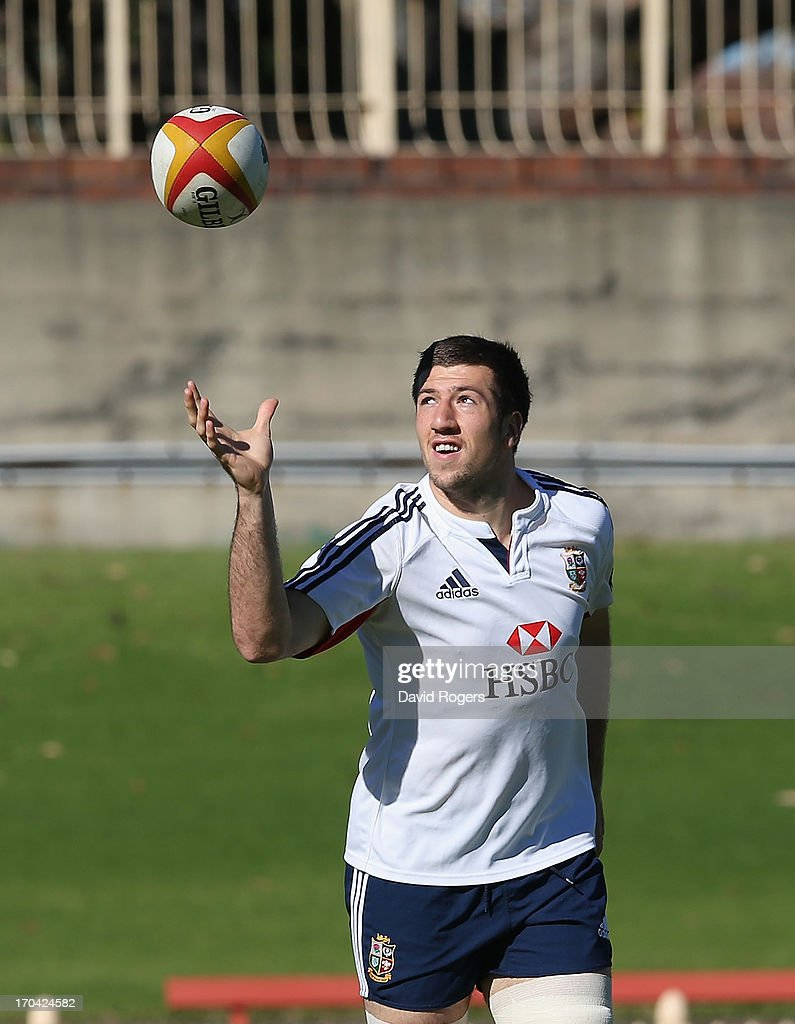 Justin Tipuric catches the ball during the British and Irish Lions training session at North Sydney Oval on June 13, 2013 in Sydney, Australia.