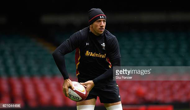Justin Tipuric in action during the Wales captains Run ahead of their match against Australia at Principality Stadium on November 4 2016 in Cardiff...
