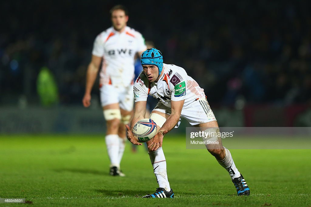 Justin Tipuric of Ospreys during the Heineken Cup Pool One match between Leinster and Ospreys at the Royal Dublin Society Ground on January 17 2014...