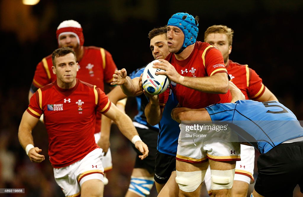Justin Tipuric of Wales in action during the 2015 Rugby World Cup Pool A match between Wales and Uruguay at Millennium Stadium on September 20 2015...