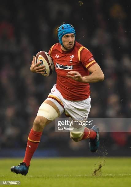 Justin Tipuric of Wales in action during the RBS Six Nations match between Wales and England at Principality Stadium on February 11 2017 in Cardiff...