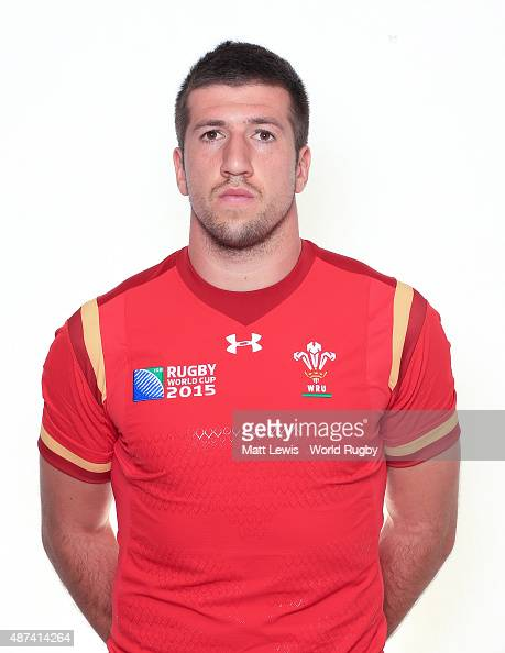 Justin Tipuric of Wales poses for a portrait during the Wales Rugby World Cup 2015 squad photo call on September 9 2015 in Cardiff Wales