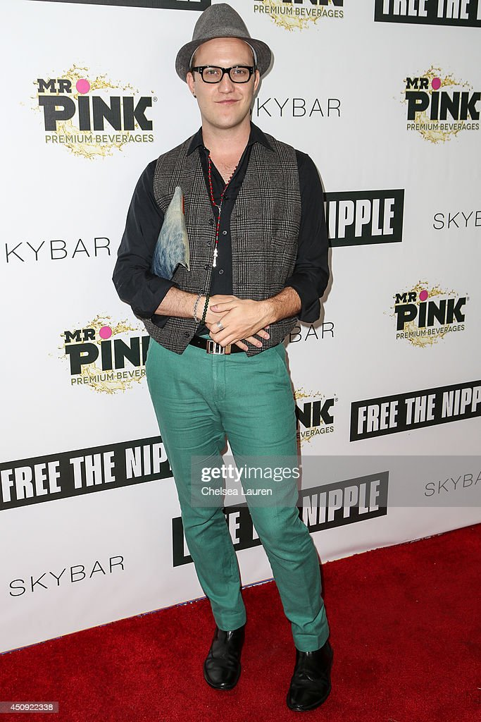 Justin Travis Howard arrives at the 'Free The Nipple' fundraiser at SkyBar at the Mondrian Los Angeles on June 19, 2014 in West Hollywood, California.