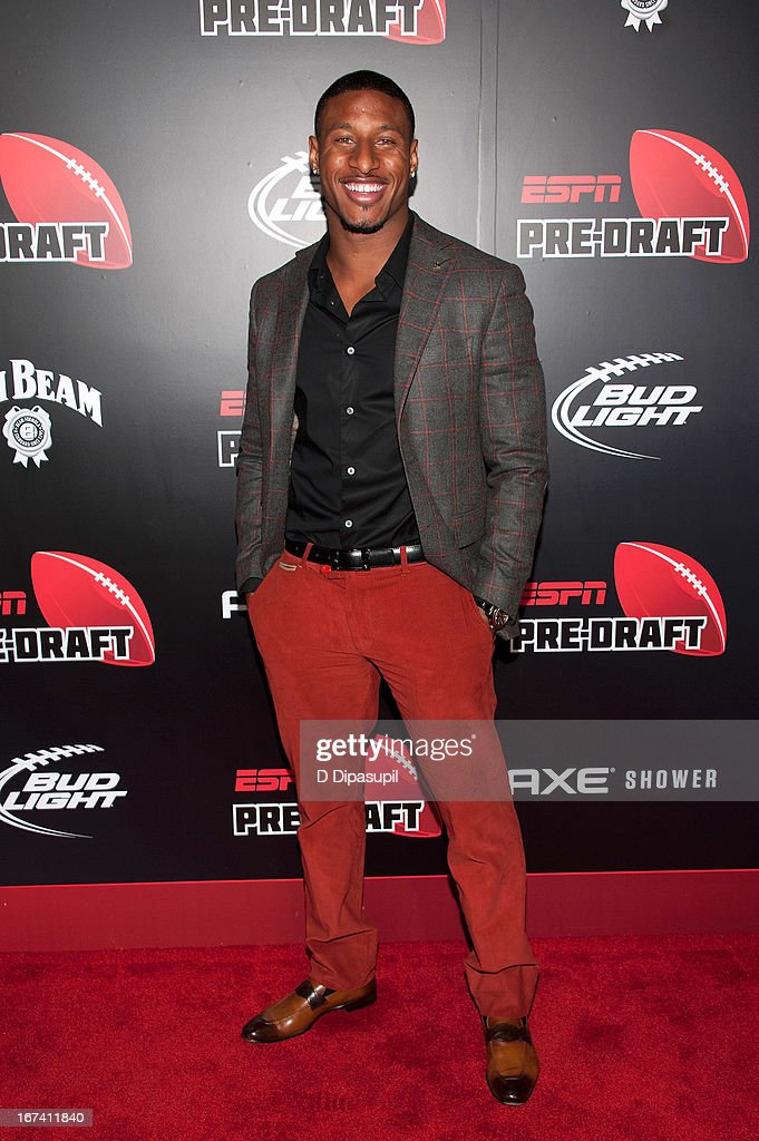 Justin Tryon attends the ESPN The Magazine 10th annual PreDraft Party at The IAC Building on April 24 2013 in New York City