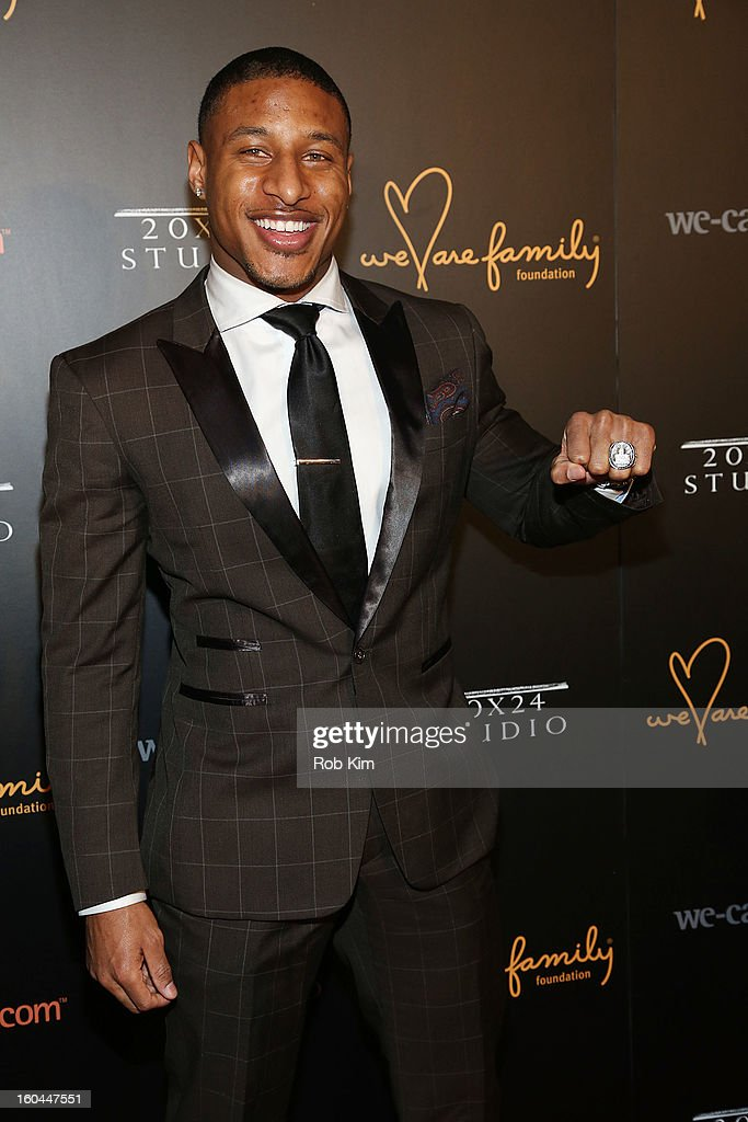 Justin Tryon of the New York Giants attends 2013 We Are Family Foundation Gala at Hammerstein Ballroom on January 31 2013 in New York City
