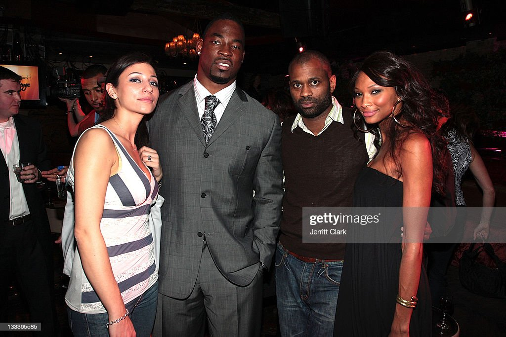 Justin Tuck Chaka Wilson and guests attend Tuck's RUSH for Literacy inaugural year celebration at Pink Elephant on March 11 2009 in New York City