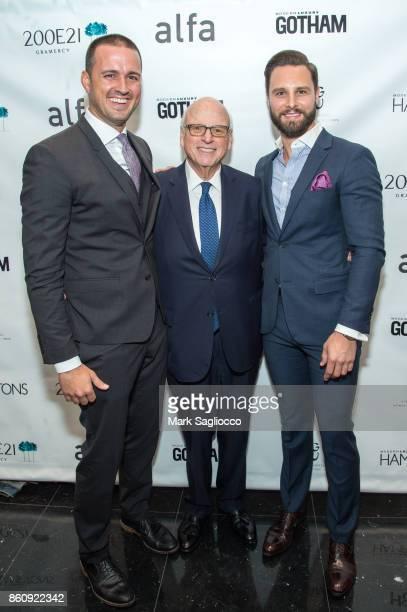 Justin Tuinstra Howard Lorber and Glenn Davis attend the Alfa Development Launch Celebration on October 12 2017 in New York City