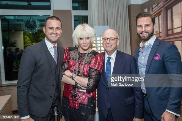 Justin Tuinstra ML Perlman Howard Lorber and Glenn Davis attend the Alfa Development Launch Celebration on October 12 2017 in New York City