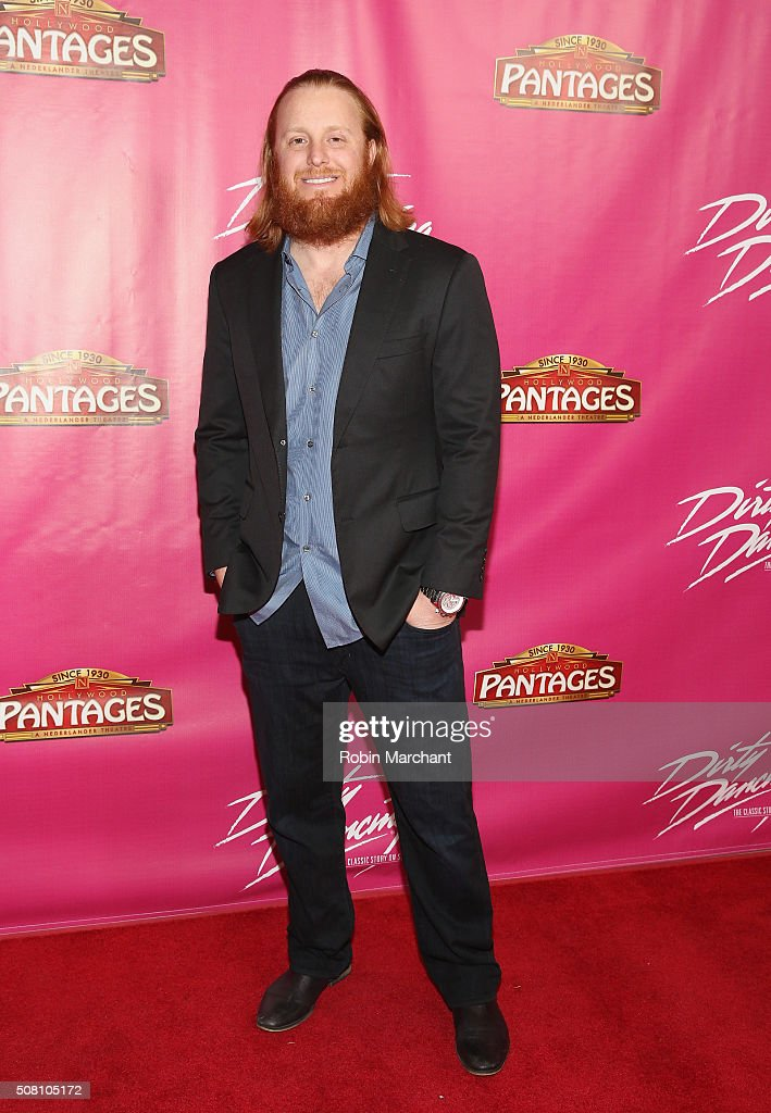 Justin Turner attends Opening Night Of 'Dirty Dancing The Classic Story On Stage' at the Pantages Theatre on February 2, 2016 in Hollywood, California.