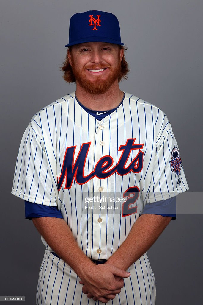 <a gi-track='captionPersonalityLinkClicked' href=/galleries/search?phrase=Justin+Turner&family=editorial&specificpeople=550296 ng-click='$event.stopPropagation()'>Justin Turner</a> #2 of the New York Mets poses during Photo Day on February 21, 2013 at Mets Stadium in Port St. Lucie, Florida.