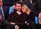 Justin Verlander and Kate Upton attend the Orlando Magic vs New York Knicks game at Madison Square Garden on November 12 2014 in New York City