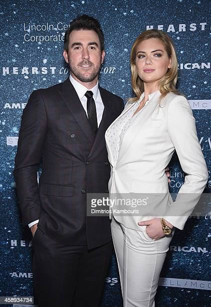 Justin Verlander and model Kate Upton attend 2014 Women's Leadership Award Honoring Stella McCartney at Alice Tully Hall at Lincoln Center on...