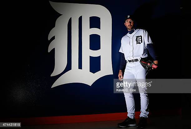Justin Verlander of the Detroit Tigers poses for a portrait during photo day on February 23 2014 at Joker Marchant Stadium in Lakeland Florida