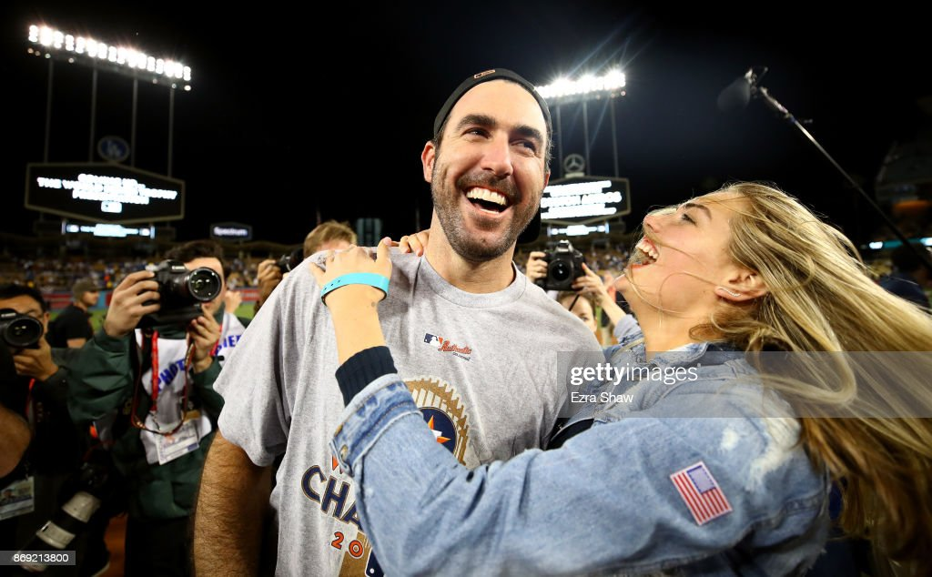 Kate Upton joyously celebrated Houston Astros World Series win with #35 and fiance Justin Verlander as they defeated the LA Dodgers 5-1 in Game 7.