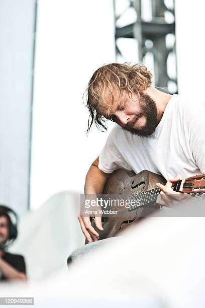 Justin Vernon of Bon Iver performs on day 2 of the Austin City Limits Music Festival at Zilker Park on October 3 2009 in Austin Texas