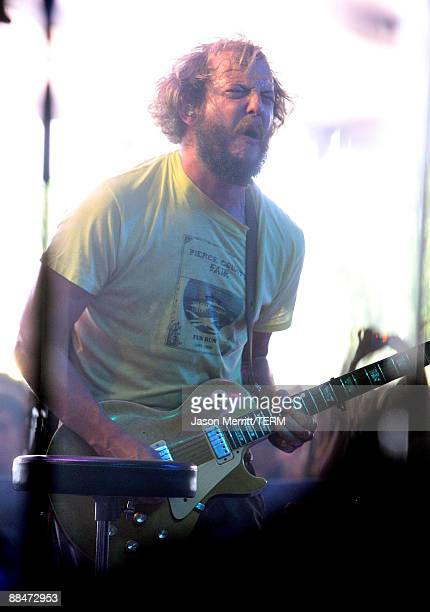 Justin Vernon of Bon Iver performs on stage during Bonnaroo 2009 on June 13 2009 in Manchester Tennessee
