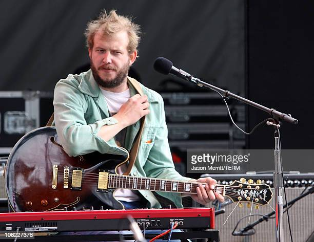 Justin Vernon of Bon Iver performs onstage during the 2008 Outside Lands Music And Arts Festival held at Golden Gate Park on August 24 2008 in San...