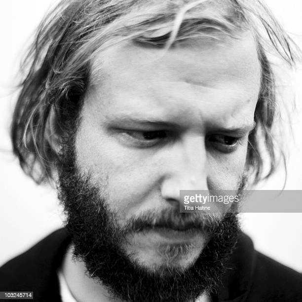 Justin Vernon of Bon Iver poses for a portrait session at Lowlands Festival on 2st August 2009 in Biddinghuizen Netherlands