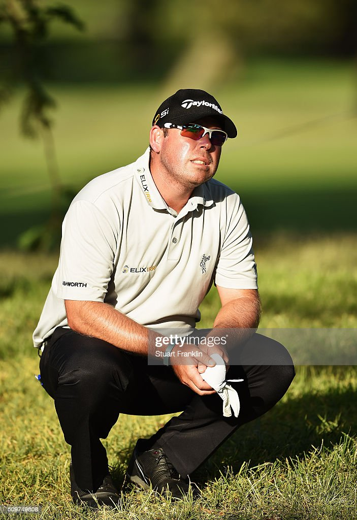 Justin Walters of South Africa plays a shot during the second round of the Tshwane Open at Pretoria Country Club on February 12, 2016 in Pretoria, South Africa.