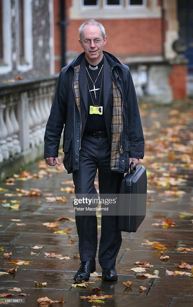 Justin Welby, the Bishop of Durham arrives at Church House on November 20, 2012 in London, England. The Church of England's governing body, known as the General Synod, will later today vote on whether to allow women to become bishops.
