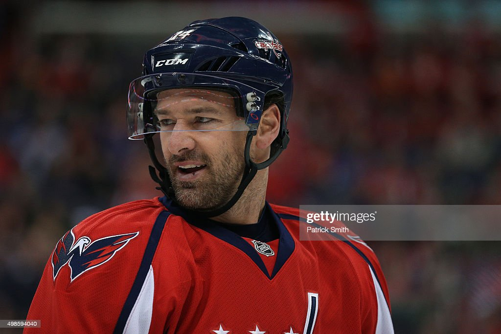 <a gi-track='captionPersonalityLinkClicked' href=/galleries/search?phrase=Justin+Williams+-+Ice+Hockey+Player&family=editorial&specificpeople=201745 ng-click='$event.stopPropagation()'>Justin Williams</a> #14 of the Washington Capitals looks on against the Edmonton Oilers at Verizon Center on November 23, 2015 in Washington, DC.