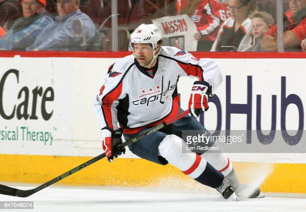 Justin Williams of the Washington Capitals skates against the Philadelphia Flyers on February 22 2017 at the Wells Fargo Center in Philadelphia...