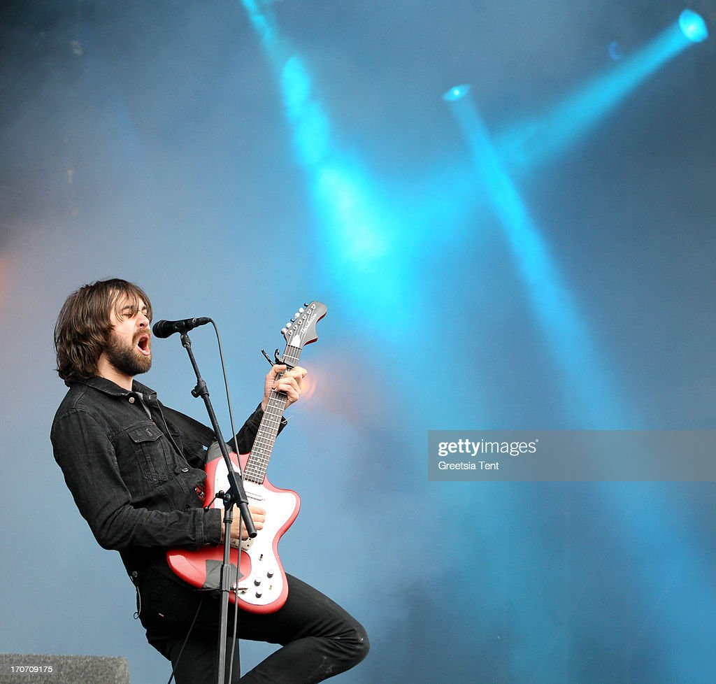 Justin Young of The Vaccines performs at day three of Pinkpop Festival at Megaland on June 16 2013 in Landgraaf Netherlands
