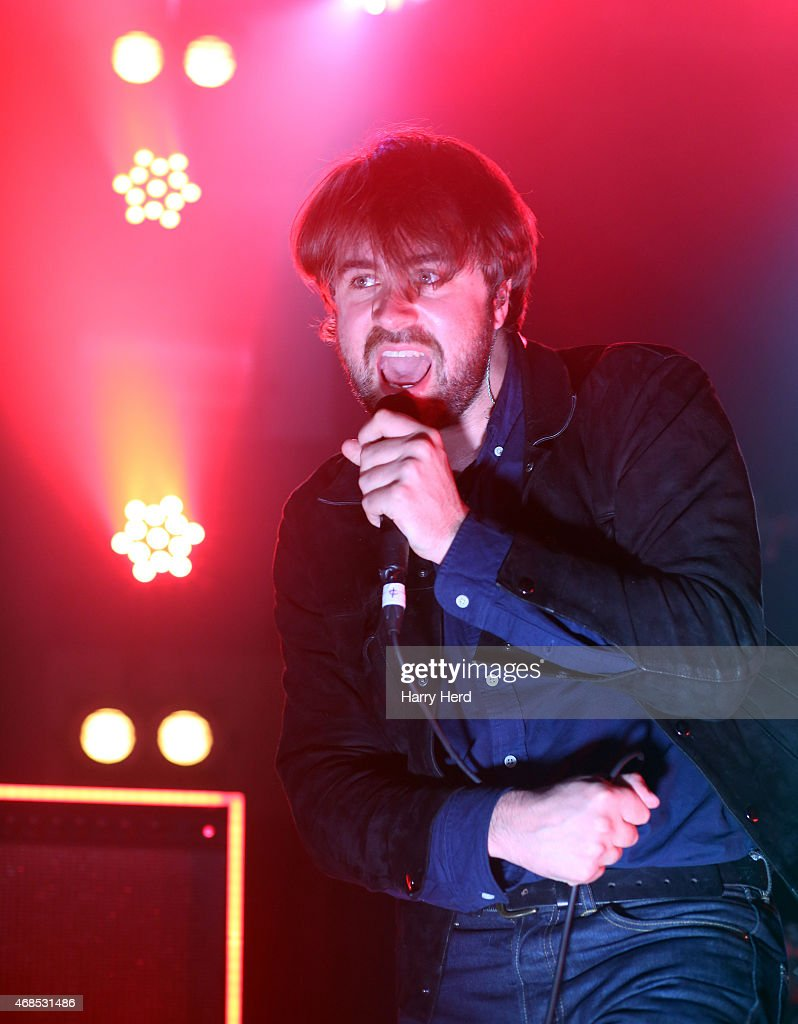 Justin Young of The Vaccines performs at Portsmouth Pyramids on April 3 2015 in Portsmouth England