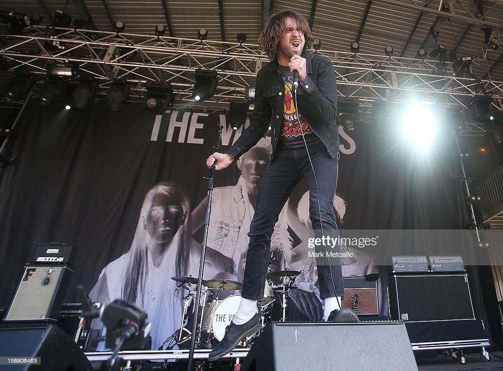 Justin Young of The Vaccines performs live on stage at The Falls Music and Arts Festival on December 30, 2012 in Lorne, Australia.