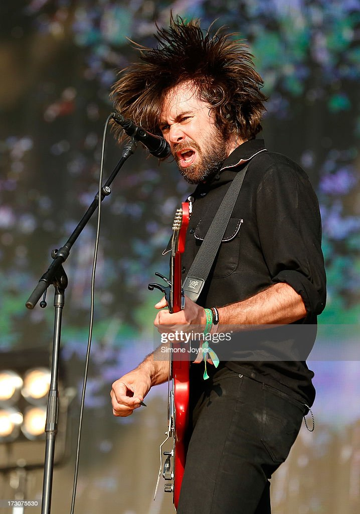 Justin Young of The Vaccines performs live on stage during day two of British Summer Time Hyde Park presented by Barclaycard at Hyde Park on July 6...