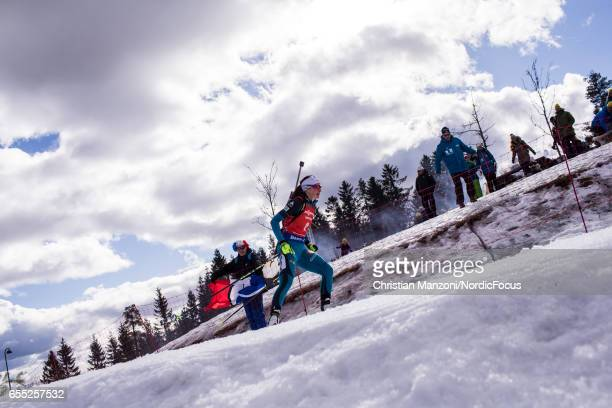 Justine Braisaz of France competes during the 10 km women's Pursuit on March 18 2017 in Oslo Norway