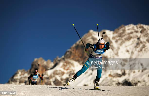 Justine Braisaz of France in action during the Women's 15km Individual competition of the IBU World Championships Biathlon 2017 at the Biathlon...