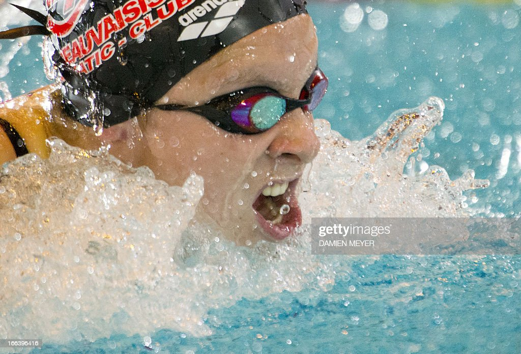 <b>Justine Bruno</b> competes in the 100m butterfly serie son April 12, ... - justine-bruno-competes-in-the-100m-butterfly-serie-son-april-12-2013-picture-id166396416
